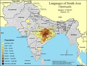 South Asia Language Map