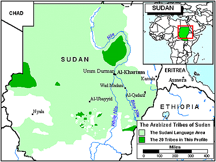 Kadugli, Arabized in Sudan