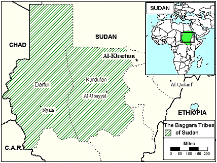 Baggara, Messiria in Sudan