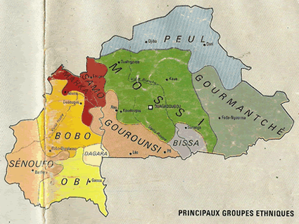 Map of Bissa in Burkina Faso