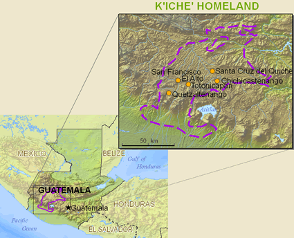 Kiche, Central in Guatemala