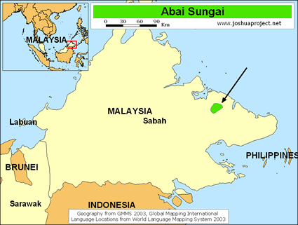 Map of Abai Sungai in Malaysia