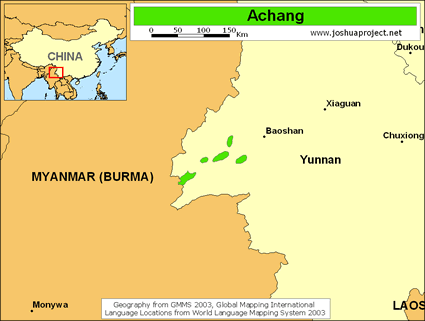 Map of Achang in China