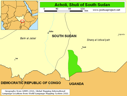 Acholi, Shuli in South Sudan
