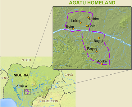 Map of Agatu in Nigeria
