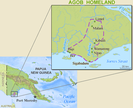 Map of Agob, Upiala-Bituri in Papua New Guinea