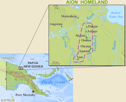 Map of Aion in Papua New Guinea