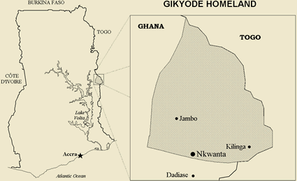 Map of Akyode in Ghana