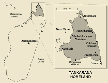 Map of Antankarana in Madagascar