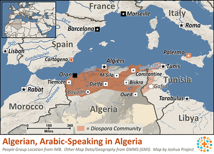 Algerian, Arabic-speaking in Algeria | Joshua Project