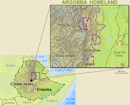 Map of Argobba in Ethiopia