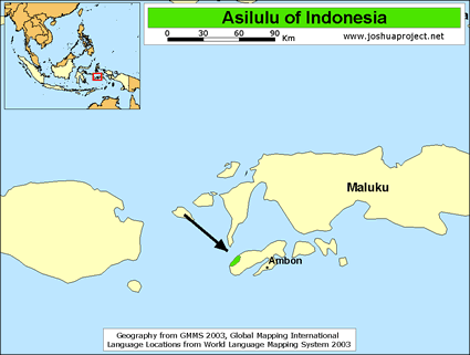 Map of Asilulu in Indonesia