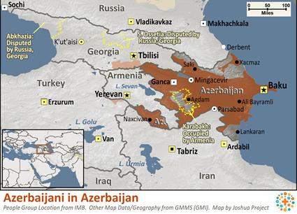 Azerbaijani In Azerbaijan Joshua Project - Azerbaijan maps with countries