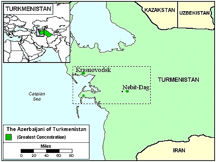Azerbaijani, North in Turkmenistan