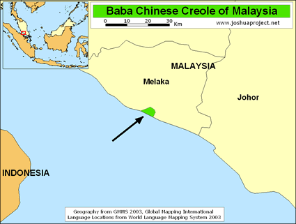 Straits Chinese, Baba Creole in Malaysia