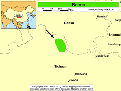 Map of Baima in China