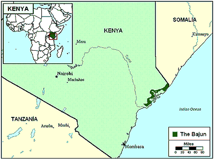 Swahili, Bajuni in Kenya