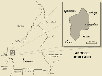 Bakossi, Akoose in Cameroon