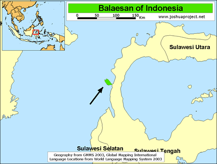 Map of Balaesan in Indonesia