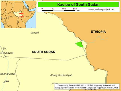 Map of Suri, Kacipo-Balesi in South Sudan
