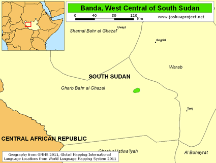 Banda, West Central in South Sudan