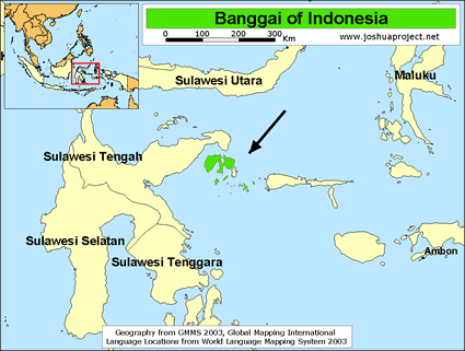Banggai in Indonesia