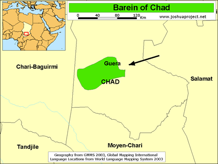 Barein in chad joshua project map source joshua project global mapping international gumiabroncs Images