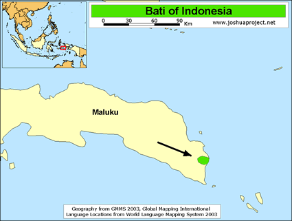 Bati In Indonesia Joshua Project - World language mapping system