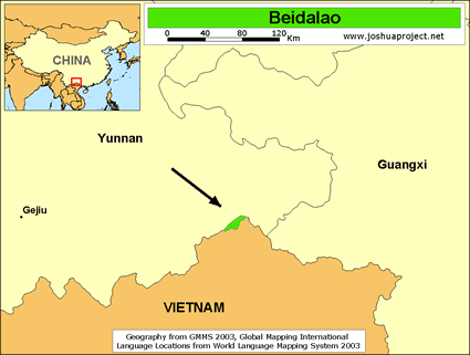 Map of Beidalao in China