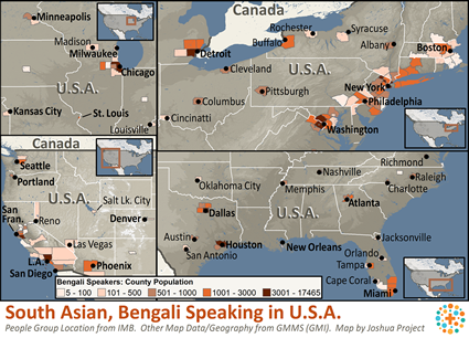 South asian bengali speaking in united states joshua project map of south asian bengali speaking in united states gumiabroncs Gallery
