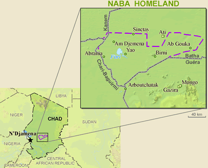 Map of Bilala in Chad