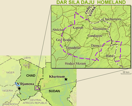 Daju, Bokoruge in Chad