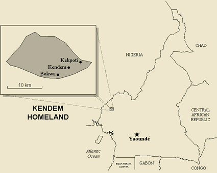 Map of Bokwa-Kendem in Cameroon