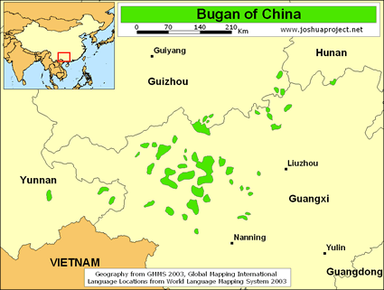 Map of Bugan in China