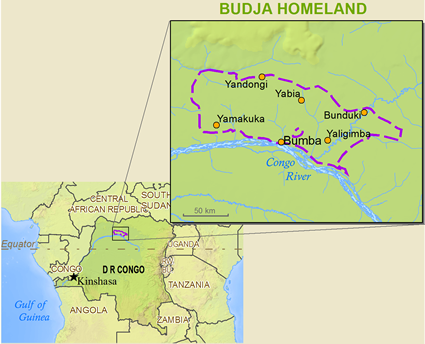 Map of Buja in Congo, Democratic Republic of