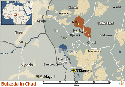 Map of Bulgeda in Chad
