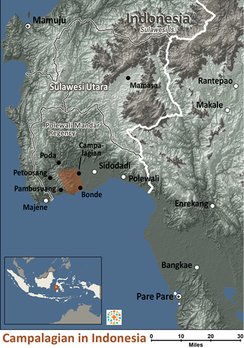 Map of Campalagian in Indonesia