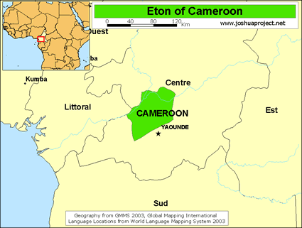 Eton In Cameroon Joshua Project - Cameroon language map
