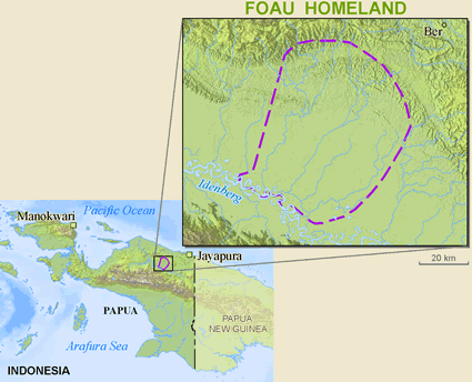 Map of Fuau in Indonesia