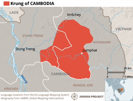Map of Krung in Cambodia