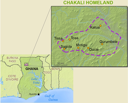 Map of Chakali in Ghana