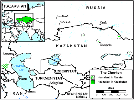 Chechen in Kazakhstan