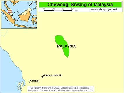 Map of Che Wong, Siwang in Malaysia