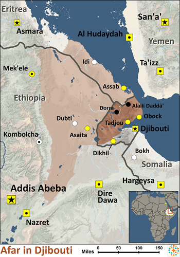 Afar in Djibouti | Joshua Project Dijibouti Map on