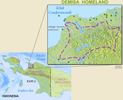 Map of Demisa in Indonesia