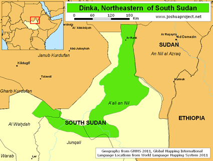 Dinka, Northeastern  in South Sudan