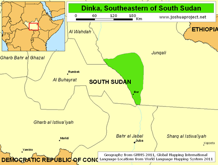 Dinka, Southeastern in South Sudan