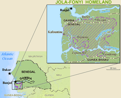 Jola-Fonyi in Senegal
