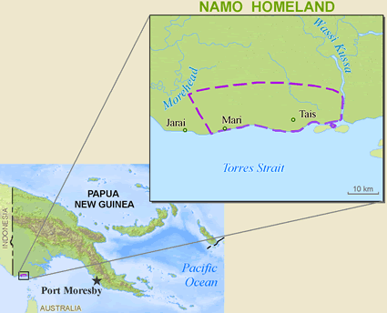 Map of Dorro in Papua New Guinea