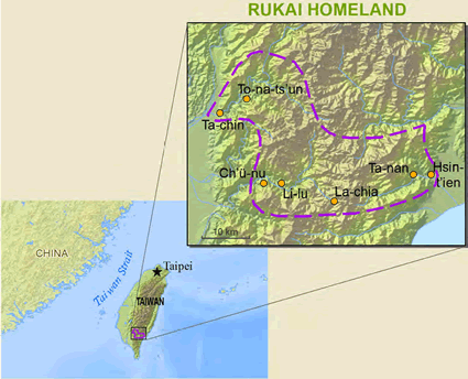 Rukai, Tsalisen in Taiwan